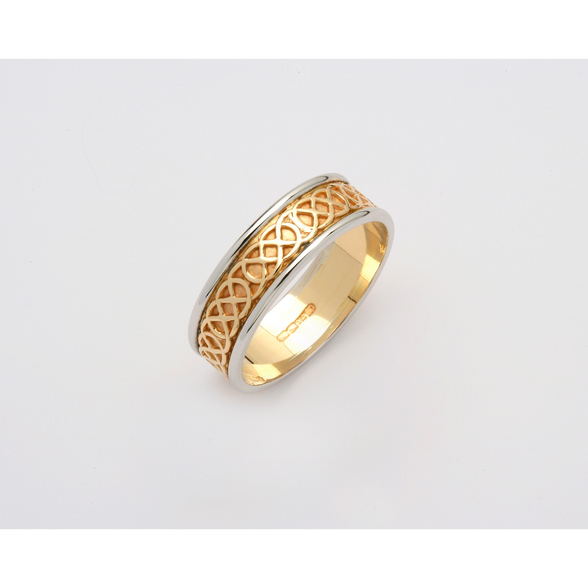 Narrow Two Tone Sheelin Wedding Band