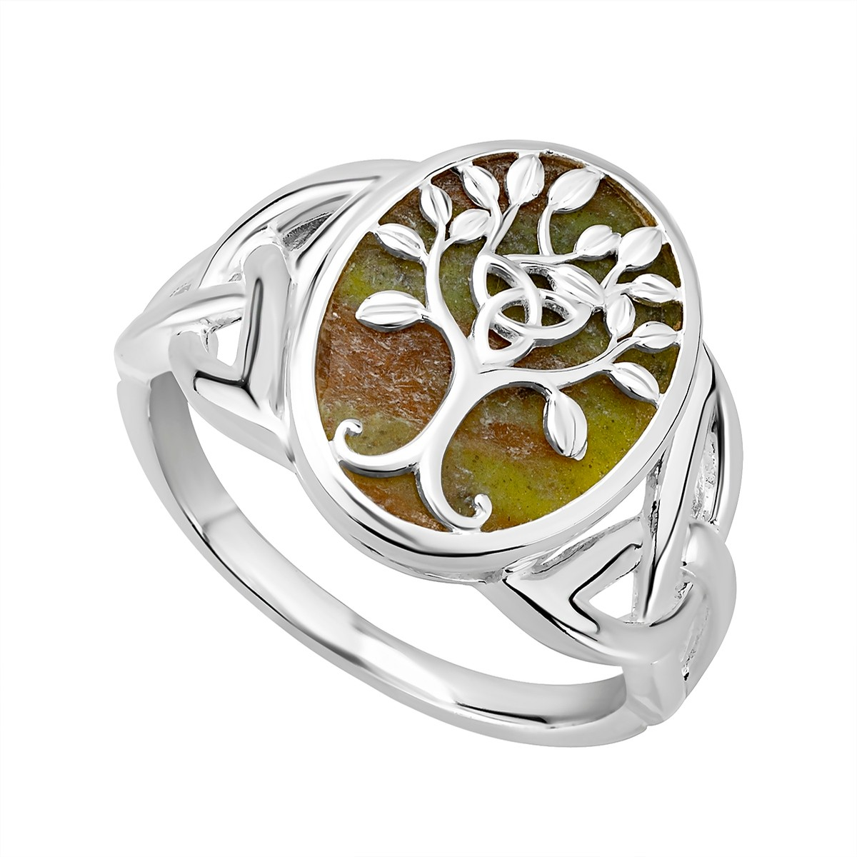 Connemara Marble Tree of Life Ring