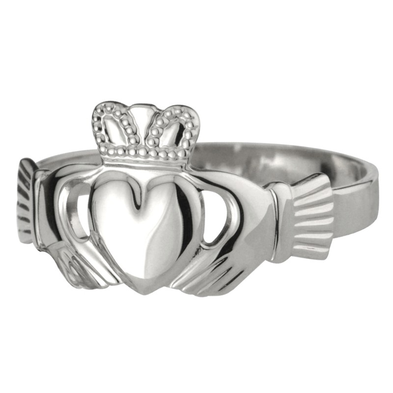 Solvar Jewelry Sterling Silver Claddagh Ring