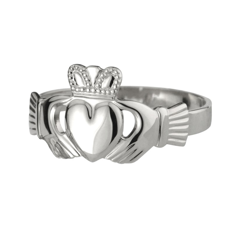 Solvar Jewelry Sterling Silver Extra Heavy Claddagh