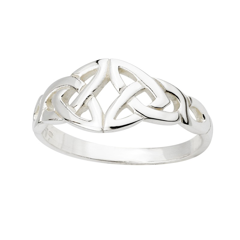 Solvar Jewelry Sterling Silver Celtic Front Ring