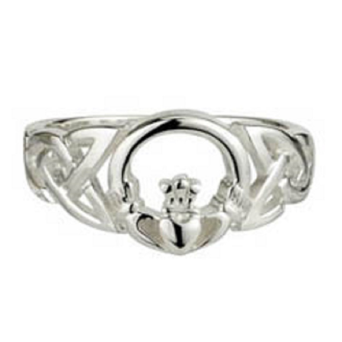 Solvar Jewelry Sterling Silver Celtic Knot Ring With Claddagh