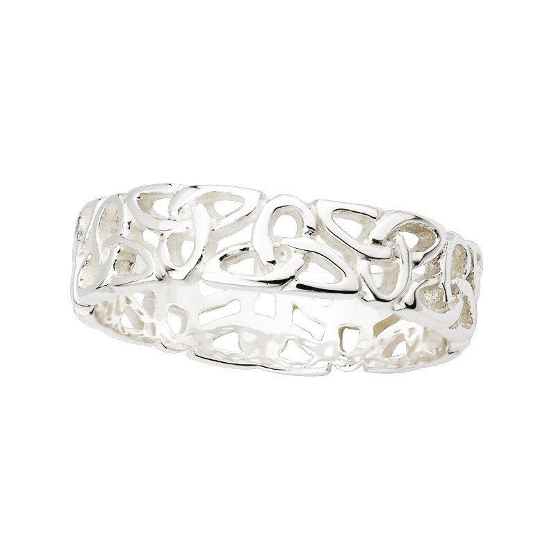 Solvar Jewelry Sterling Silver Trinity Band
