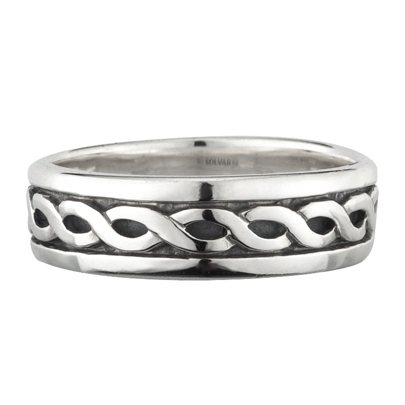 Solvar Jewelry Sterling Silver Celtic Knot Band