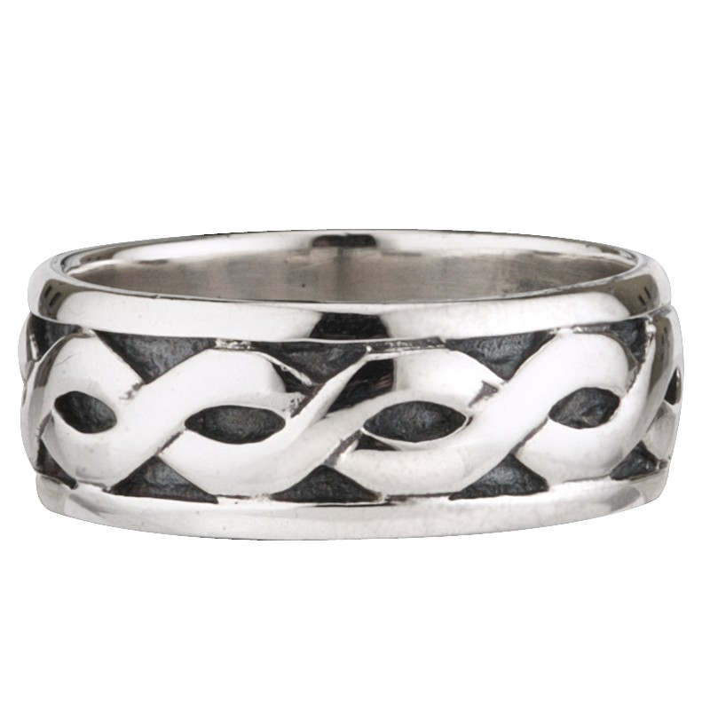 Solvar Jewelry Sterling Silver Celtic Knot Wide Band