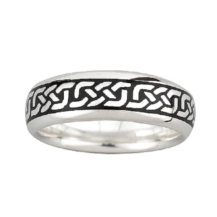 Solvar Jewelry Silver and Enamel Celtic Knot Ring