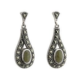 Connemara Marble Marcasite Earrings