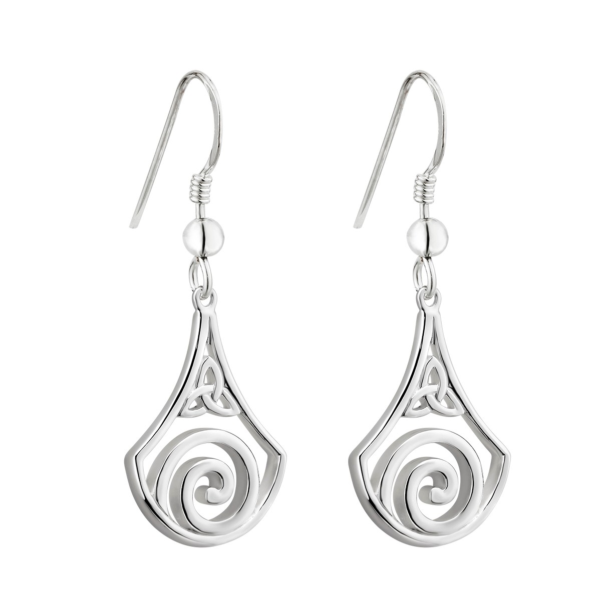 Trinity Spiral Earrings