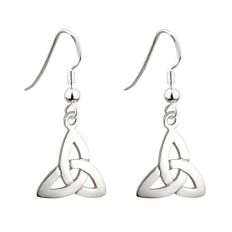 Solvar Jewelry Silver Trinity Knot Earrings