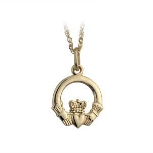 Solvar Jewelry Gold Small Plain Claddagh