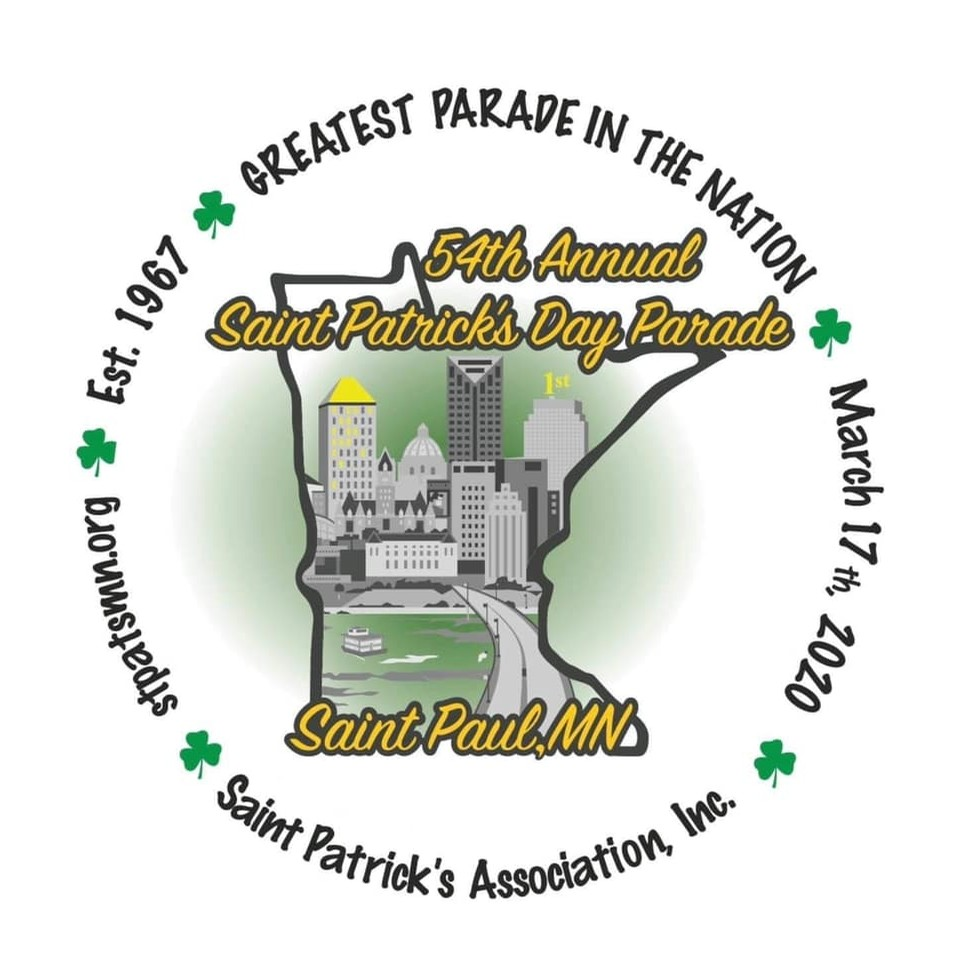 Saint Paul St Patricks Day Button