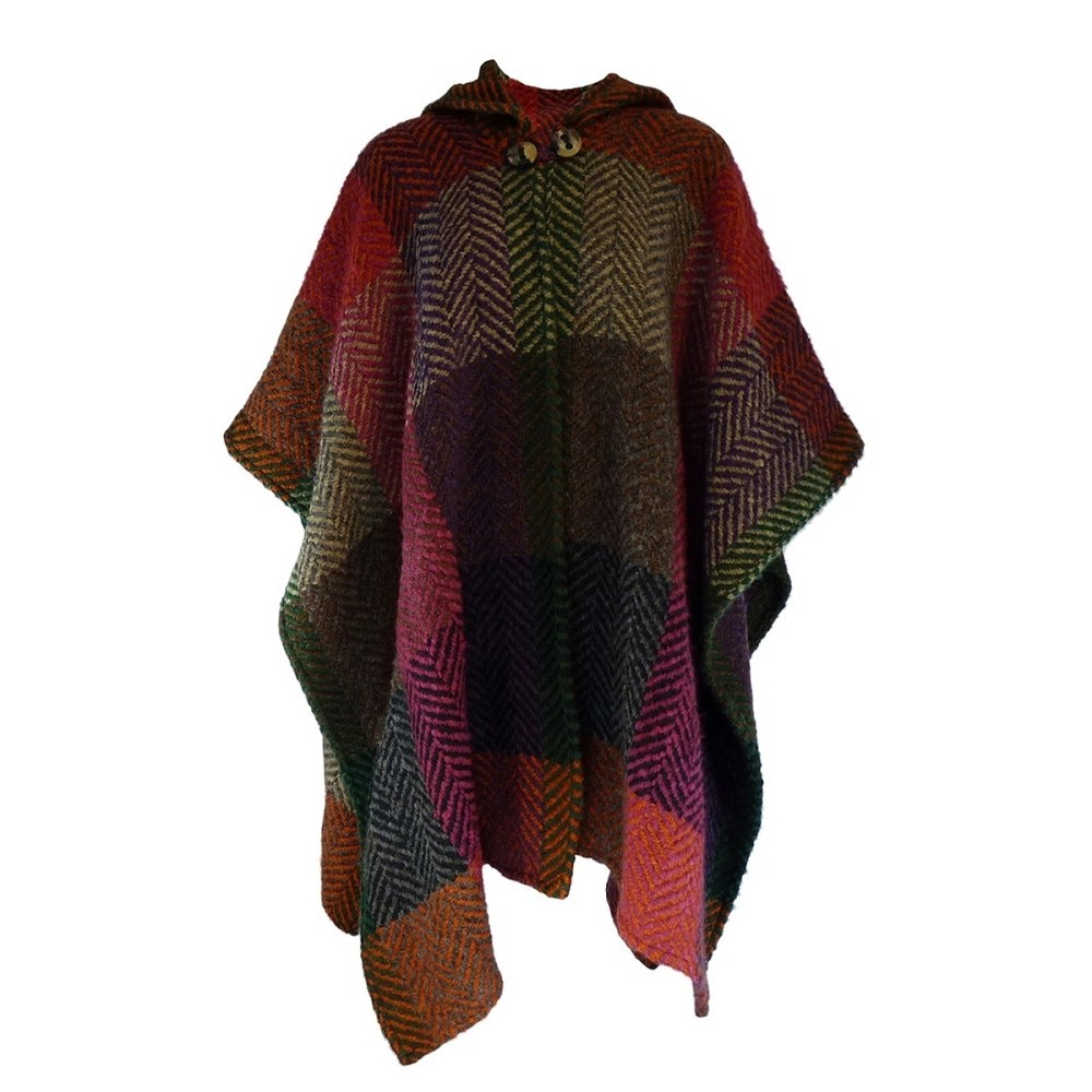 Irish Hooded Cape Sarah (Multi Mulberry)