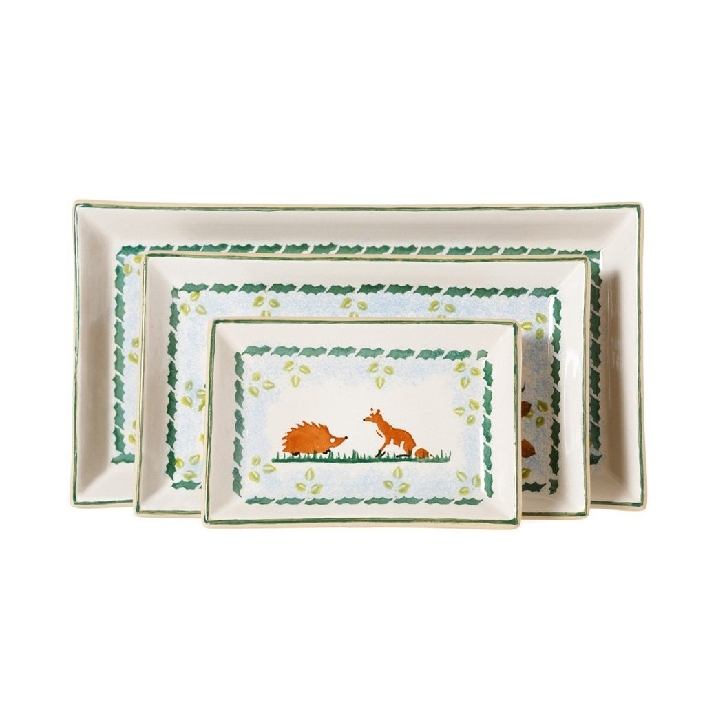 Set of 3 Woodland Rectangle Plates