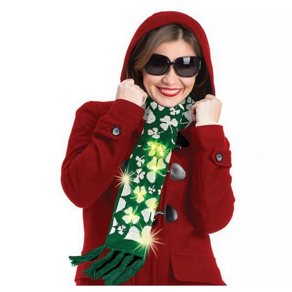 St Patrick's Light Up Scarf