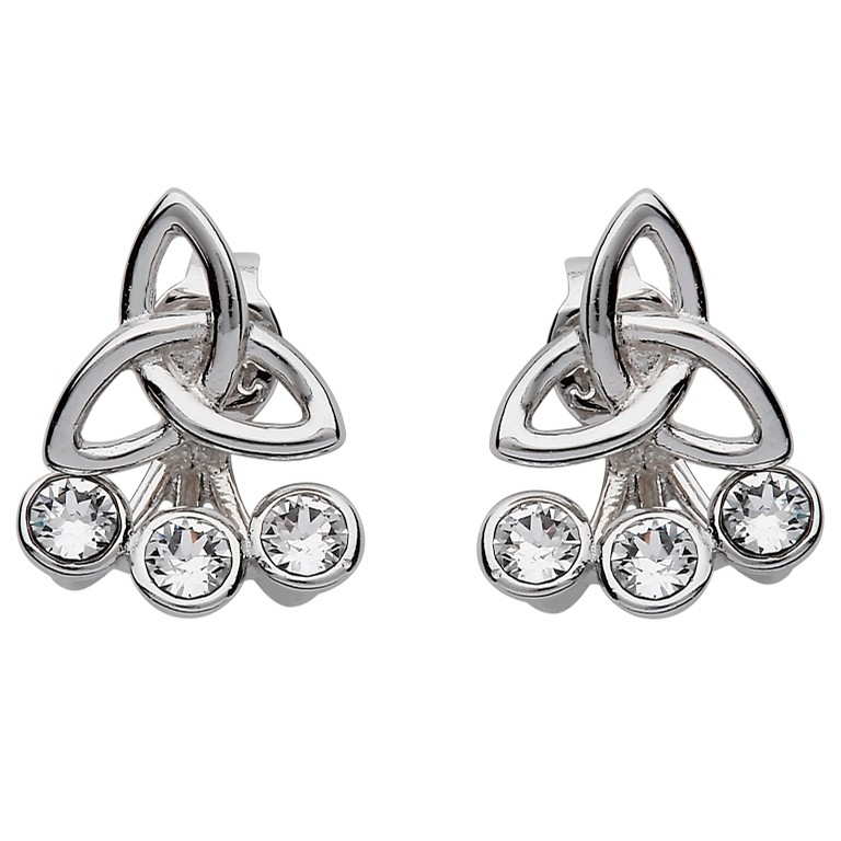Swarovski Silver Trinity Knot Peekaboo Earrings