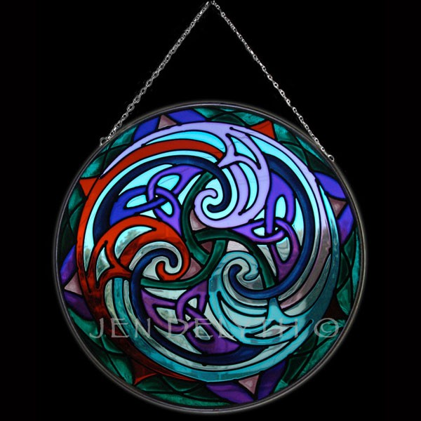 Celtic Stained Glass (Triskel)