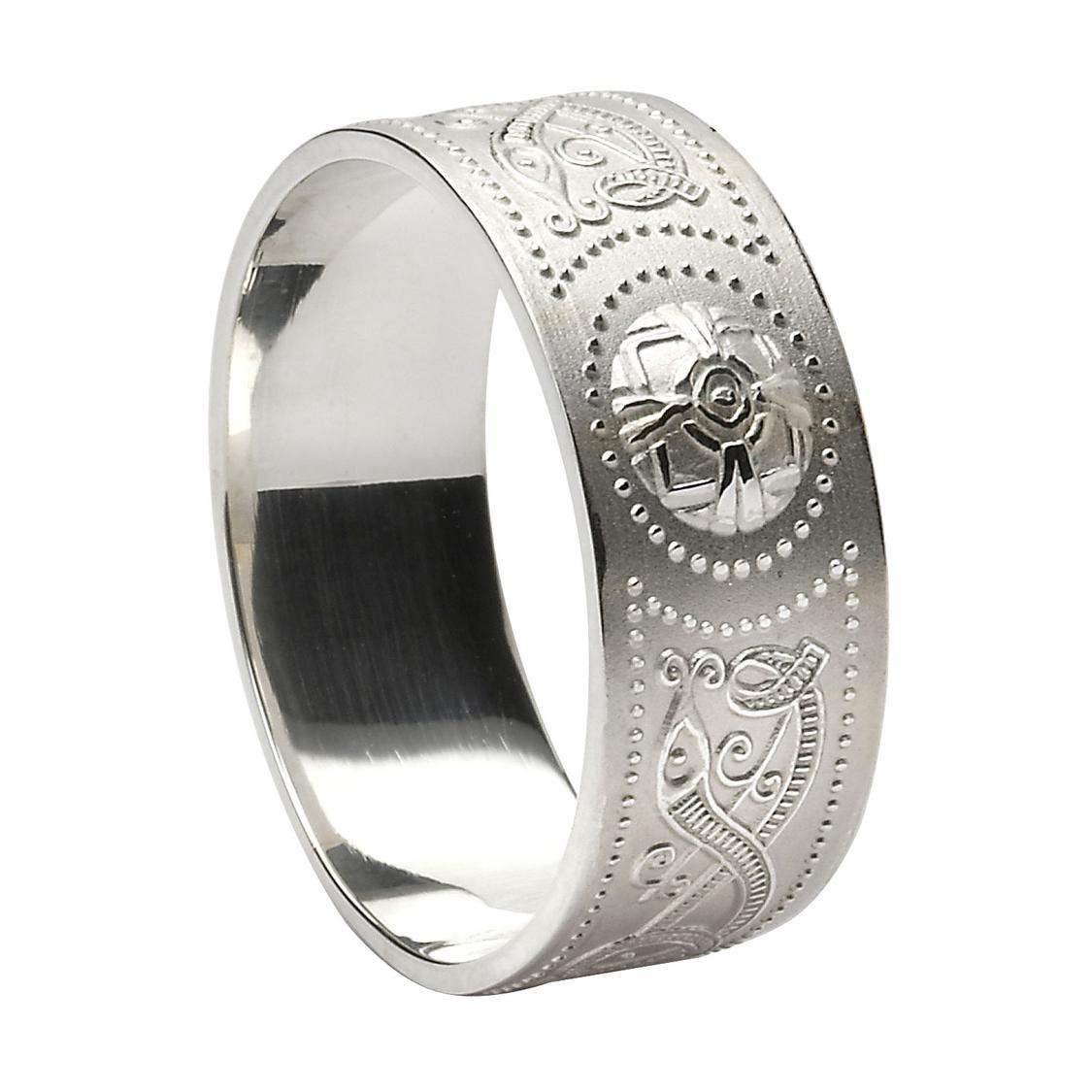 Facet Jewelry Sterling Silver Celtic Ring