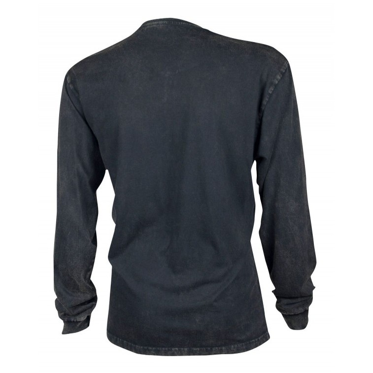 Guinness Classic Washed Black Henley Shirt