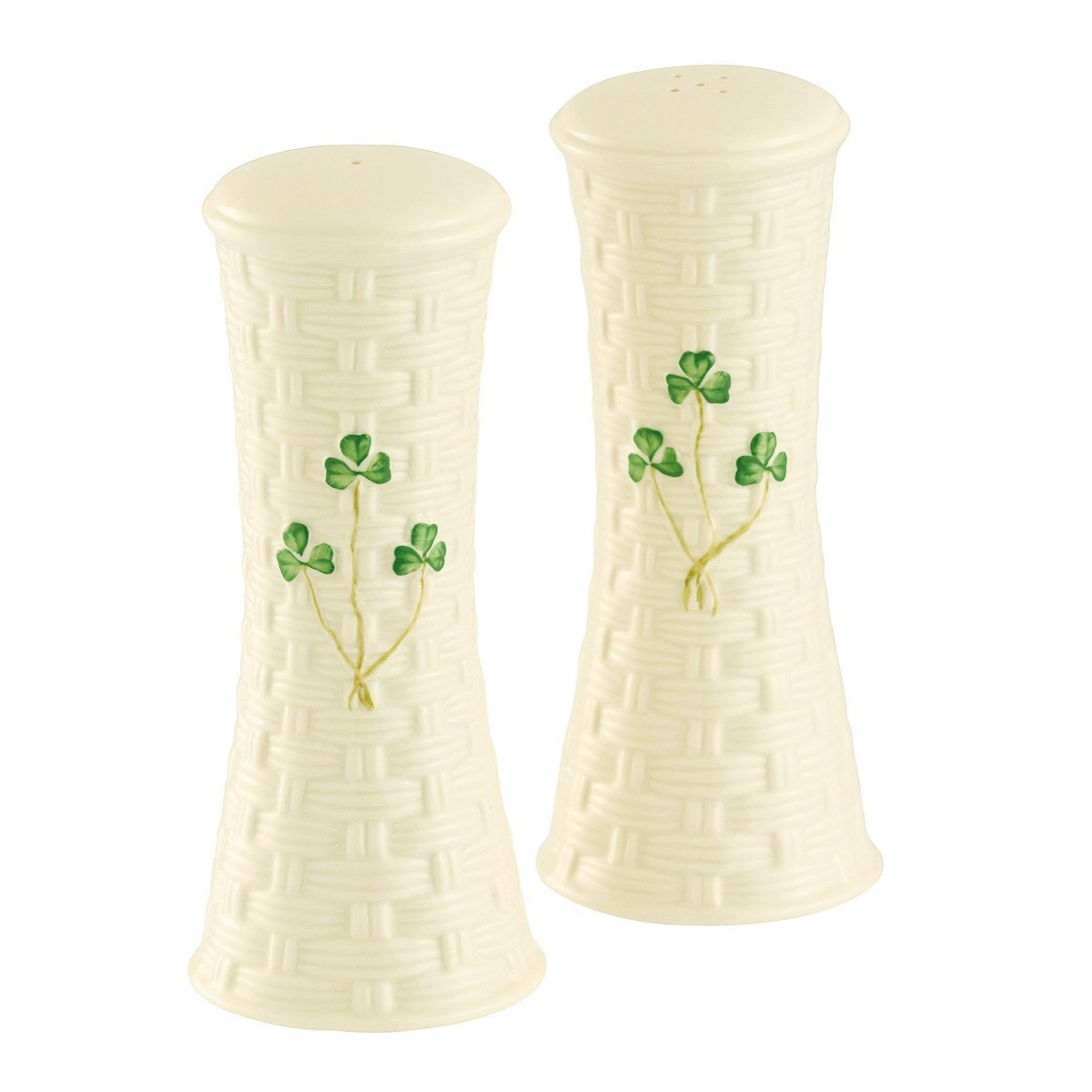 Belleek China Belleek Salt and Pepper Set