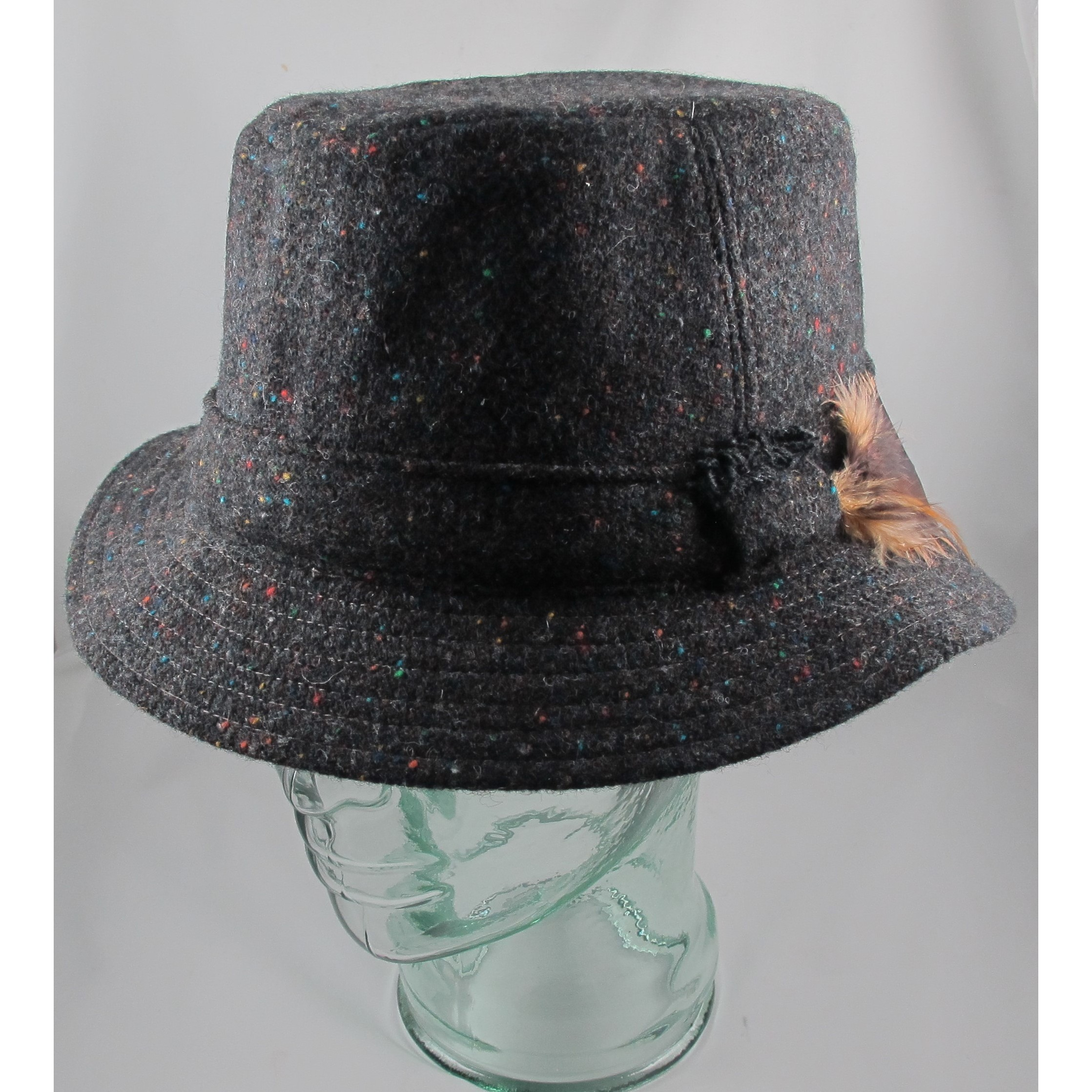 Black Speckled Walking Hat