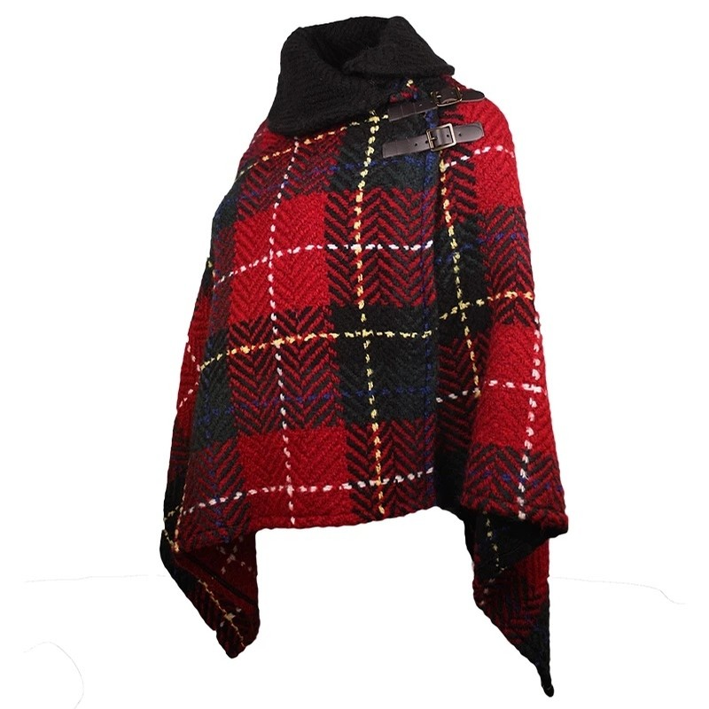 Irish Shawl Collar (Tartan Red)