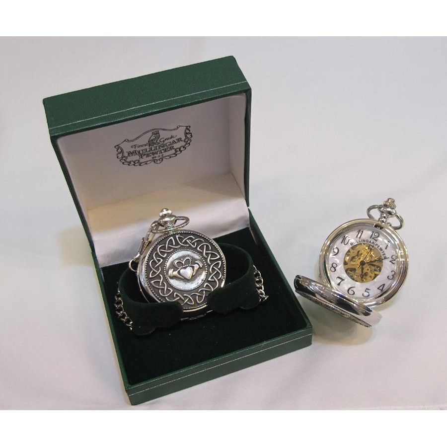 Claddagh Wind Up Celtic Pocket Watch