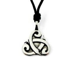 Pewter Tribal Spiral Pendant