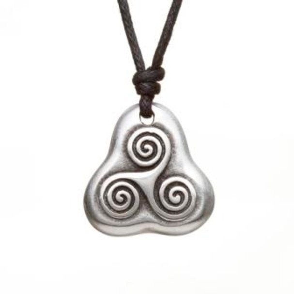 Triple Spiral Chocker Pendant