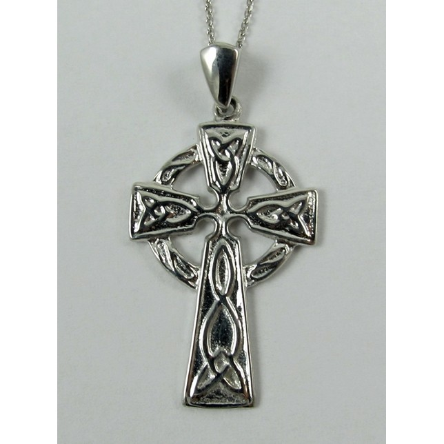 Celtic Cross White Gold