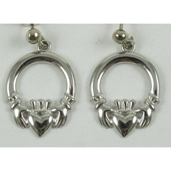 Claddagh Mo Chroi Earrings White Gold