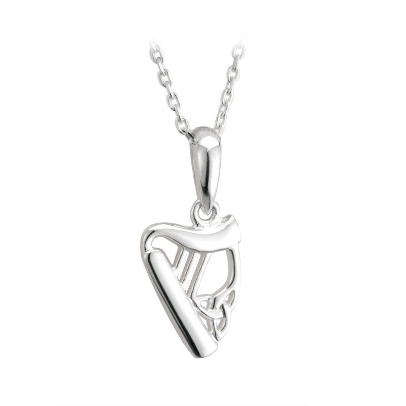 Solvar Jewelry Sterling Silver Harp Pendant Petite