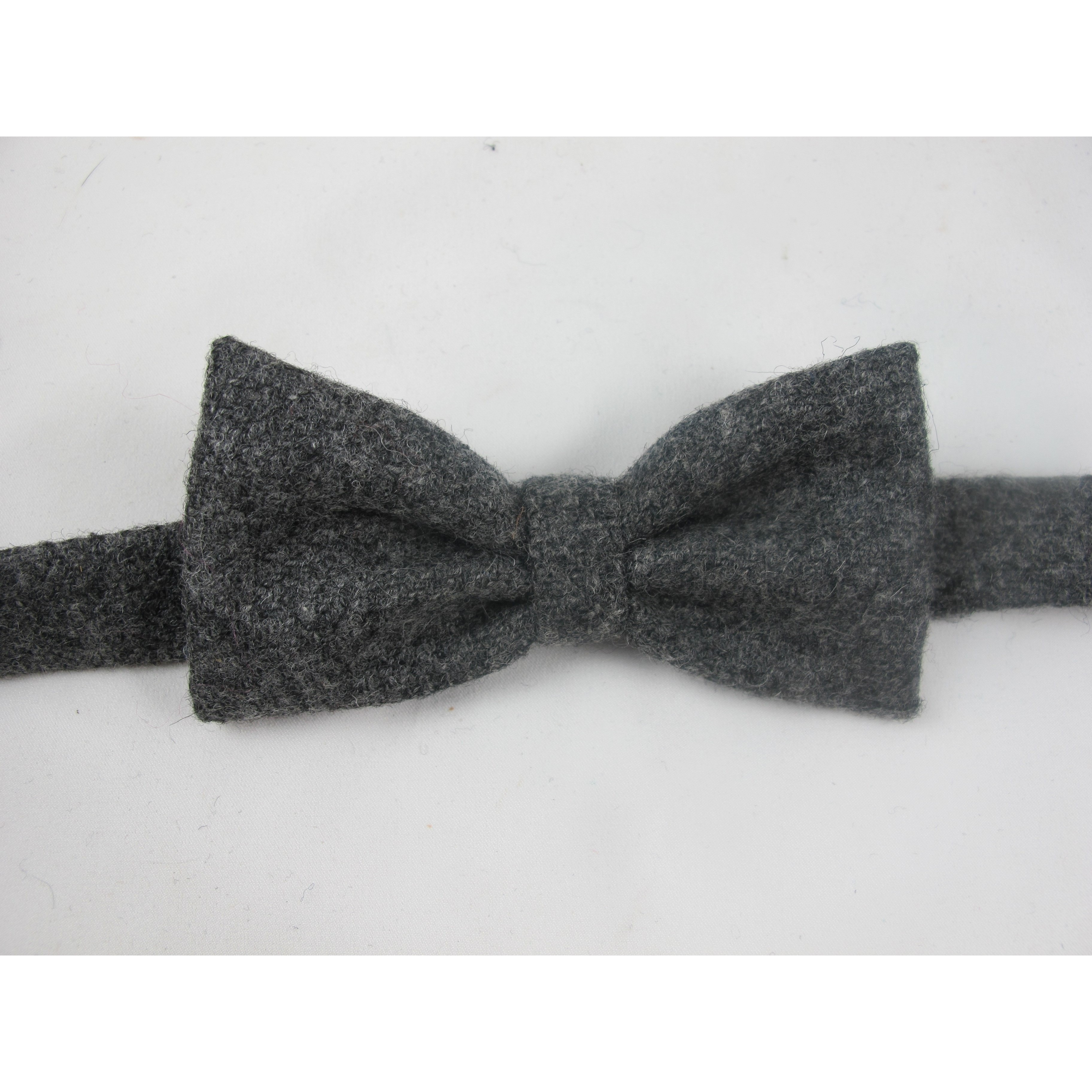 Grey Tweed Bow Tie