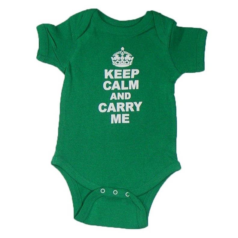 Keep Calm and Carry Me Romper