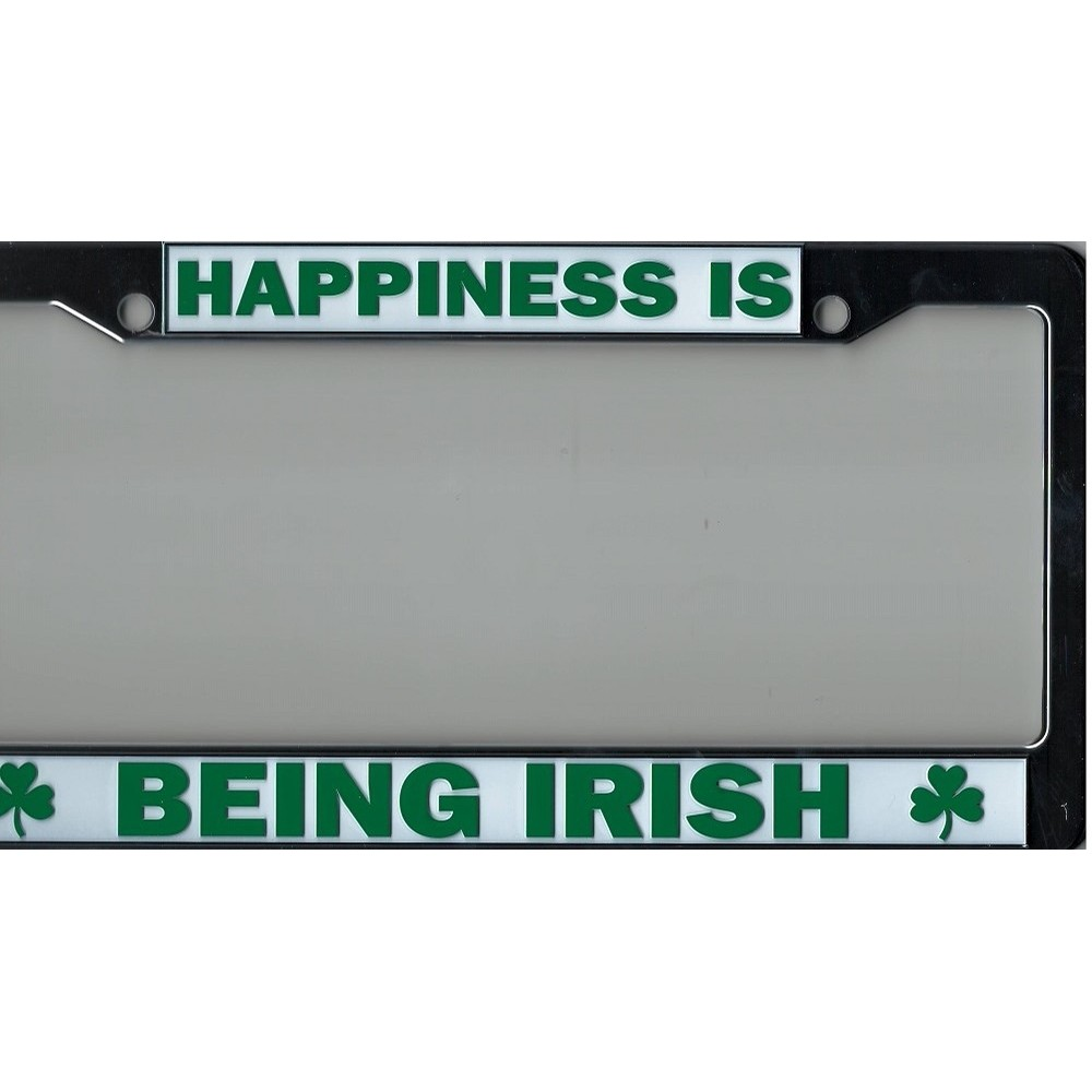 Happiness Is Being Irish License Plate