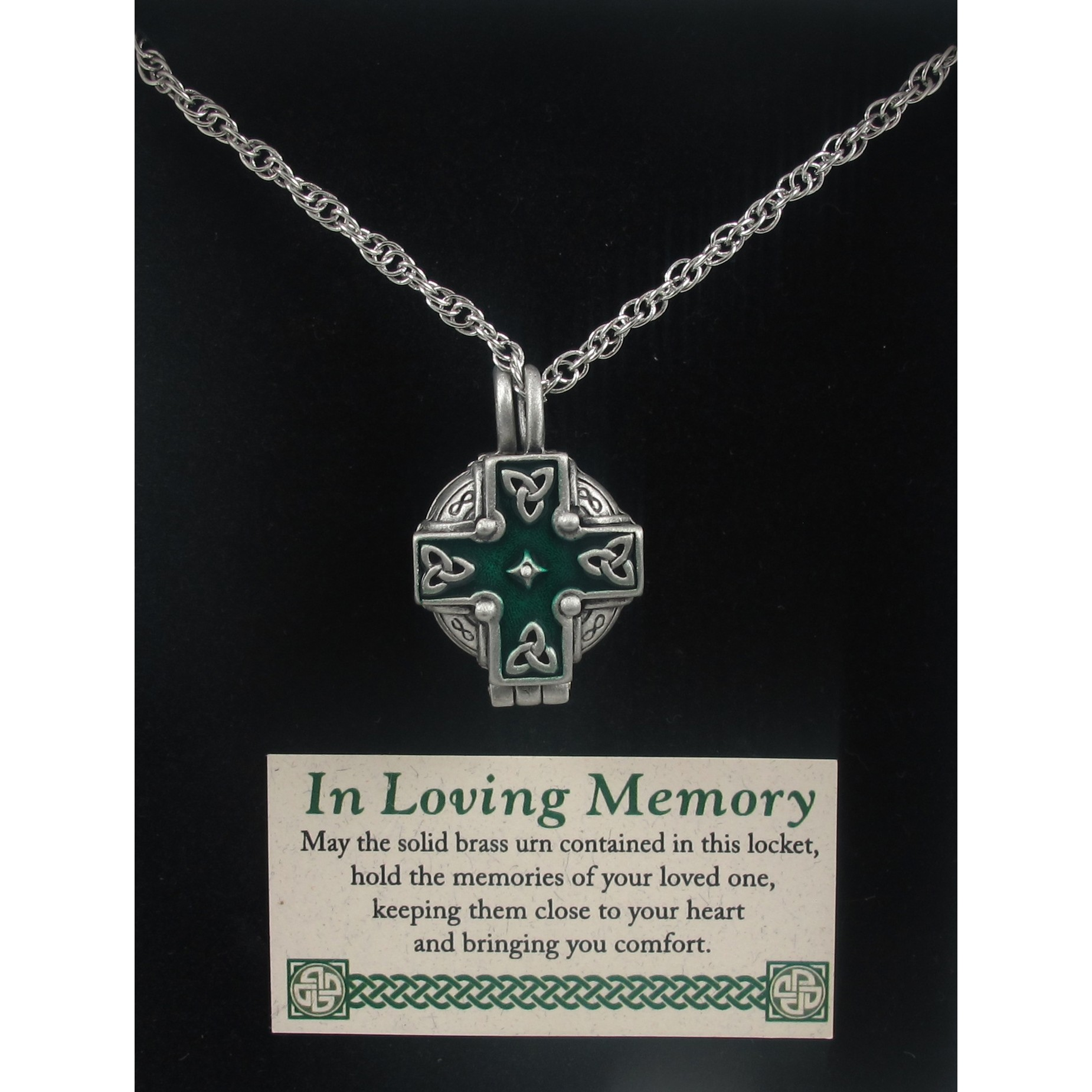 Celtic Cross Memorial Locket