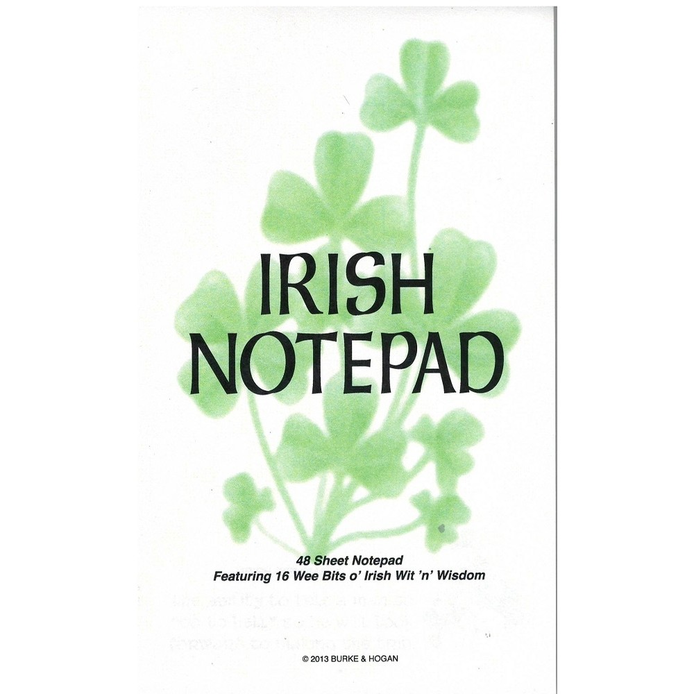 Irish Wit and Wisdom Notepad