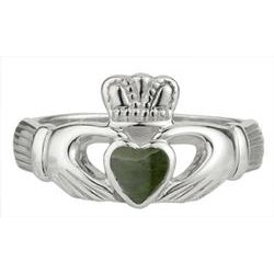 Old Claddagh and Connemara Marble ring