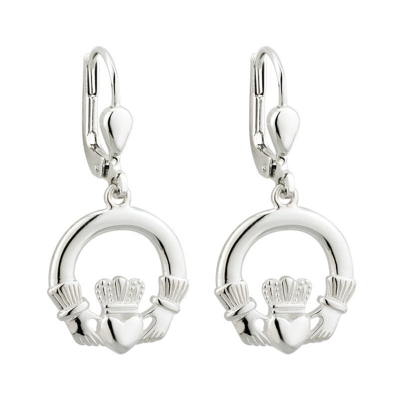 Solvar Jewelry Silver Claddagh Earrings