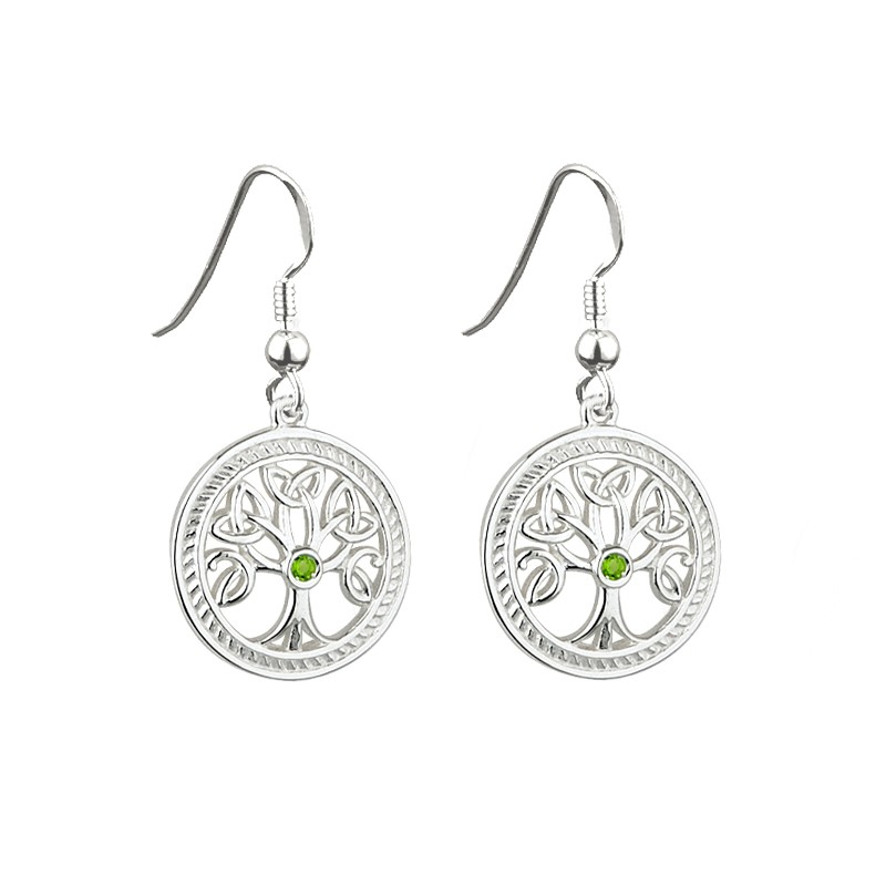 Solvar Jewelry Silver Tree of Life Earrings