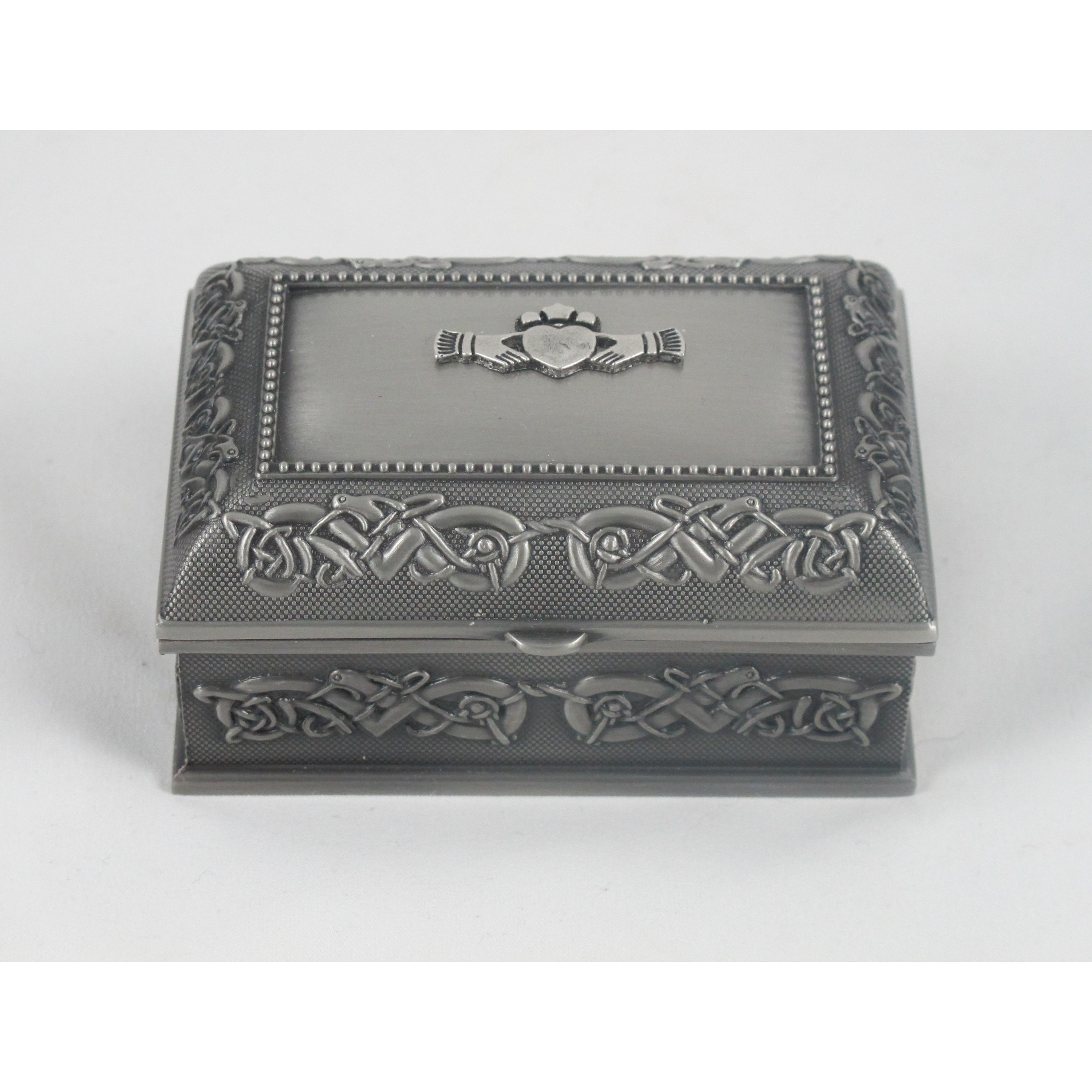 Mullingar Pewter Small Claddagh Pewter Jewelry Box