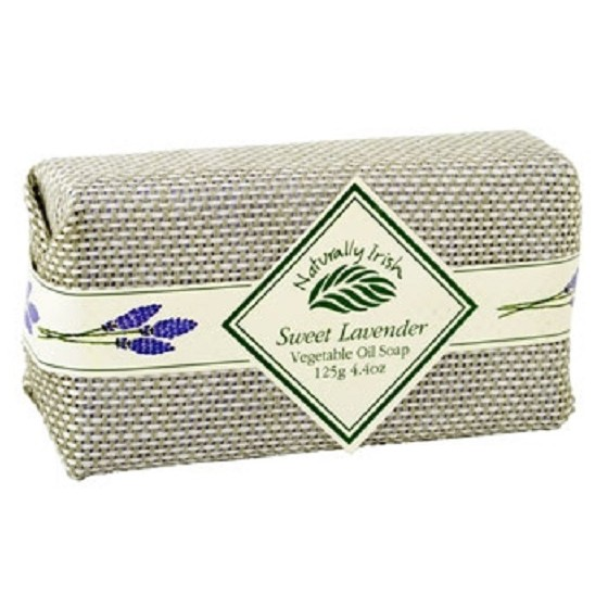 Irish Perfume Sweet Lavender Soap with Linen Wrap