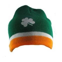 RIN Irish Tri Colour Beanie Hat