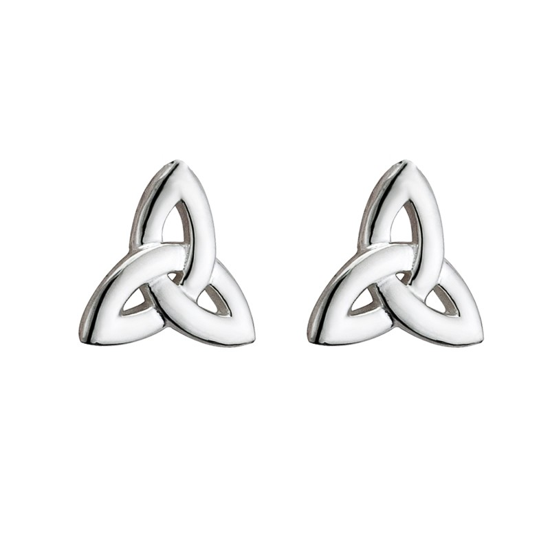Sterling Silver Trinity Knot Studs