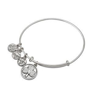 Shamrock Charm Bangle with Jewels