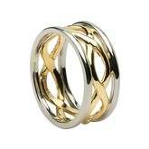 Infinity with Yellow Gold and White Gold Trim