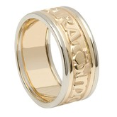 Anam Cara Yellow Gold Center Band With White Gold Trim