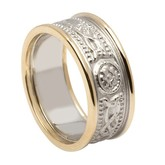 Celtic Warrior Wedding Band with Trim