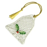 Belleek Basketweave Bell Ornament