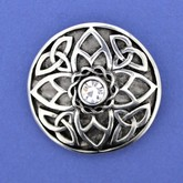 Trinity Knot Brooch with Stone