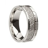 Faith Ogham Band - Trinity 10K White Gold